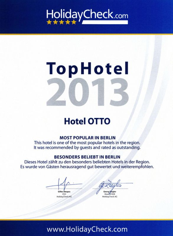 HolidayCheck Top Hotel 2013<br>—