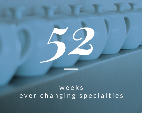 52 weeks ever changing specialties. © Hotel Otto