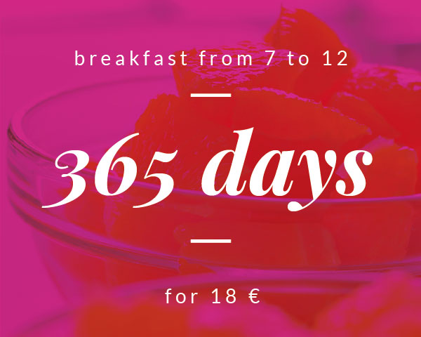 365 days, breafast for 18 €. © Hotel Otto