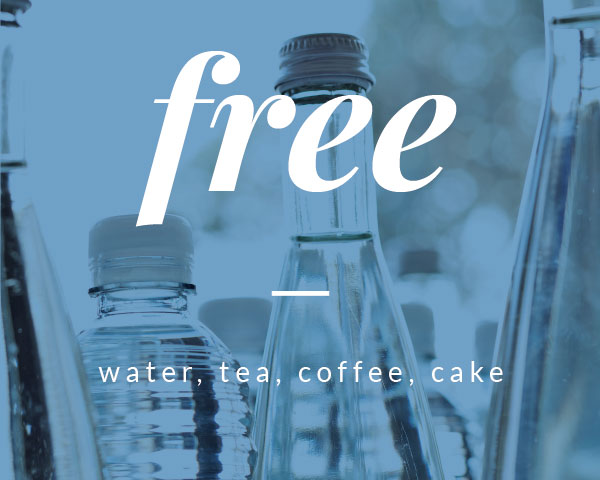 Free. Water, Tea, Caffee, Cake. © Hotel Otto